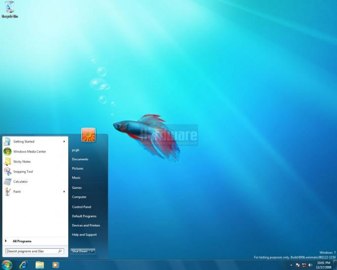 Desktop: Windows 7