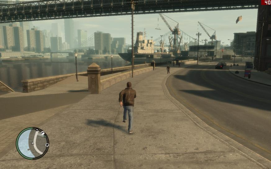GTA 4 (PC): On full details with an 512 MiByte card the game embezzles diverse details and textures.