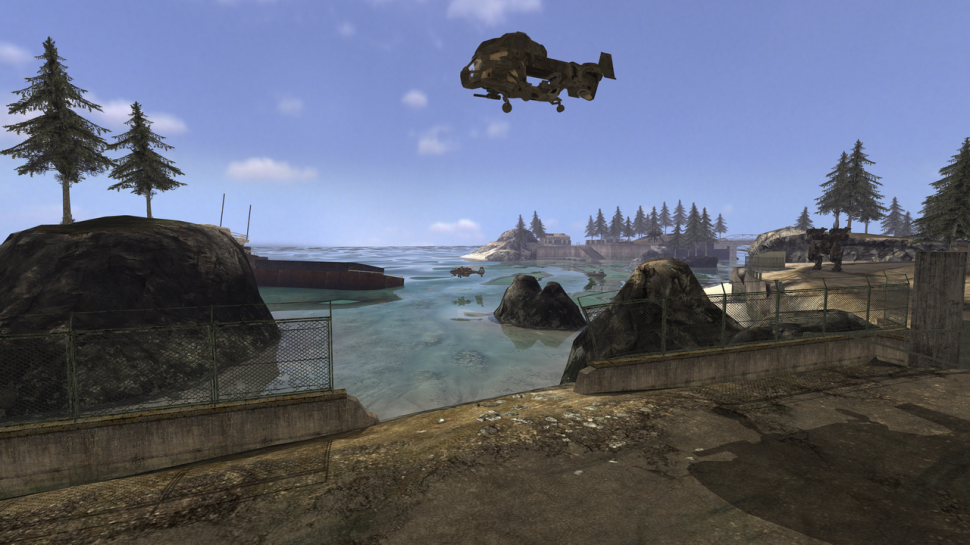 Quake Wars: Ray traced water with reflections and refractions. (picture: <a href=