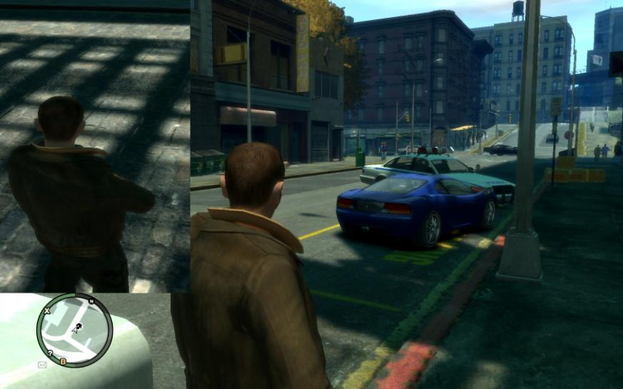 GTA 4: Without Motion Blur and Depth of Field, but with Smooth Shadows