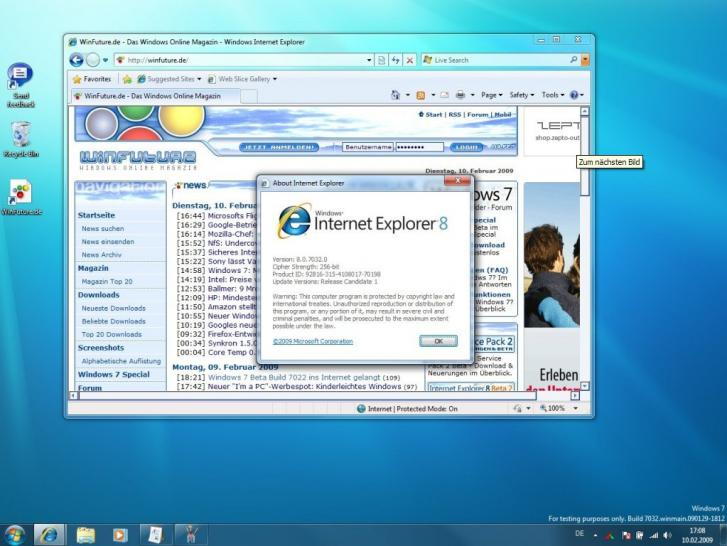 Windows 7 Build 7032 (1)