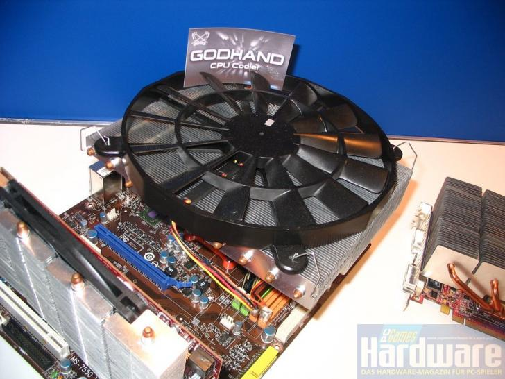 Scythe prototypes: Processor cooler Godhand with 25 centimeter fan