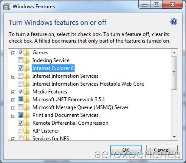 The Internet Explorer 8 can be deactivated in Windows 7.