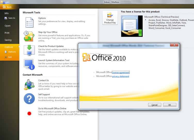 Outlook 2010 mit Ribbon-Interface?