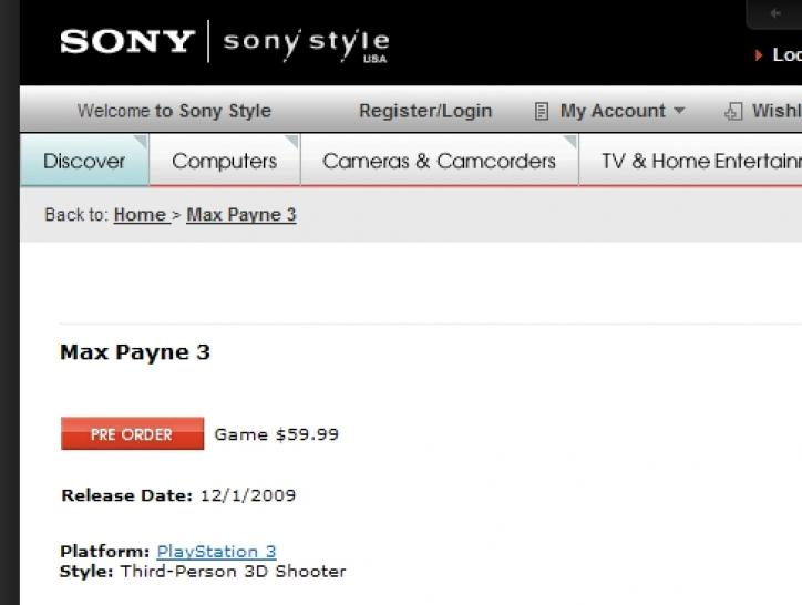 Max Payne 3 bei sonystyle.com