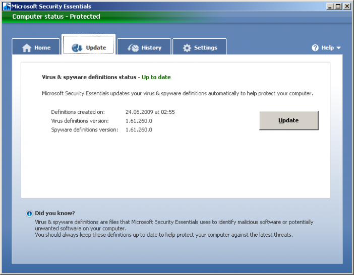 Microsoft Morro: Beta-Version bei AV-Test.org getestet. Hier: Update unter Windows XP