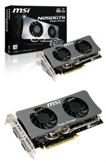 MSI introduces new Geforce GTS 250 Twin Frozr.