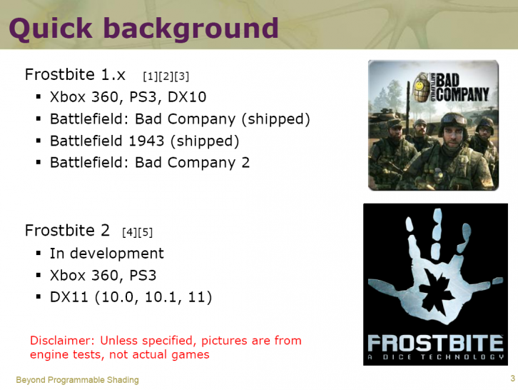 Frostbite: Only version 2 will support DirectX 11