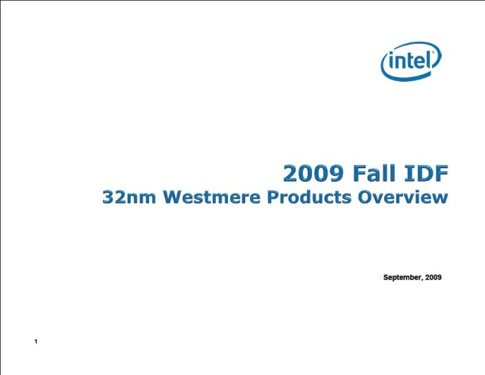 Presentation: Clarkdale benchmark results from Intel (1)