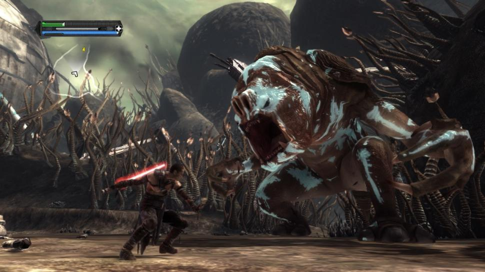 Star Wars: The Force Unleashed - Rancor: dumm, aber cool