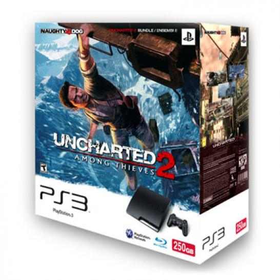 Playstation 3 - Konsole 250 GB inkl. Dual Shock 3 Wireless Controller + Uncharted 2