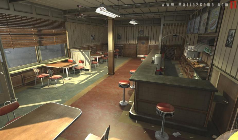 Mafia II: Restaurant before being destroyed