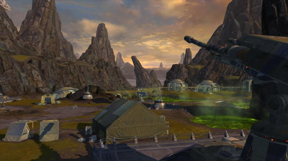 Star Wars: The Old Republic: The planet of Balmorra has to suffer from the battle between the sith and the Republic. (1)