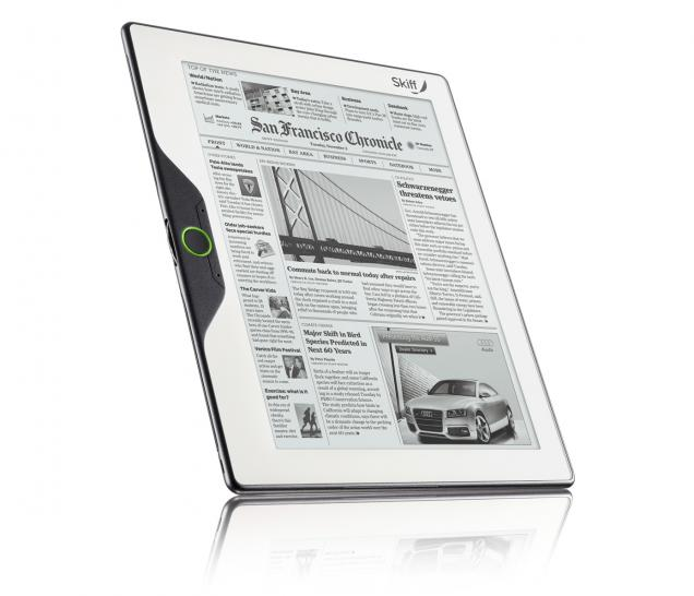 The bendable e-book reader from Skiff. (1)