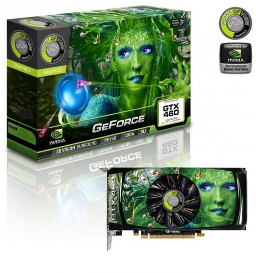 Point of View Geforce GTX 460 mit Referenztakt