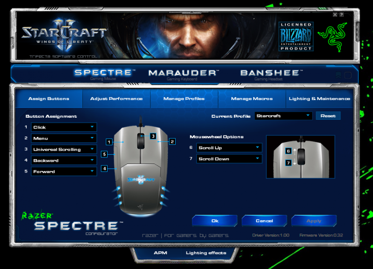 Software der Stacraft-2-Hardware von Razer (01)