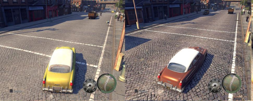 "Mafia 2: Links normal, rechts mit Textur""mod"" (8)"