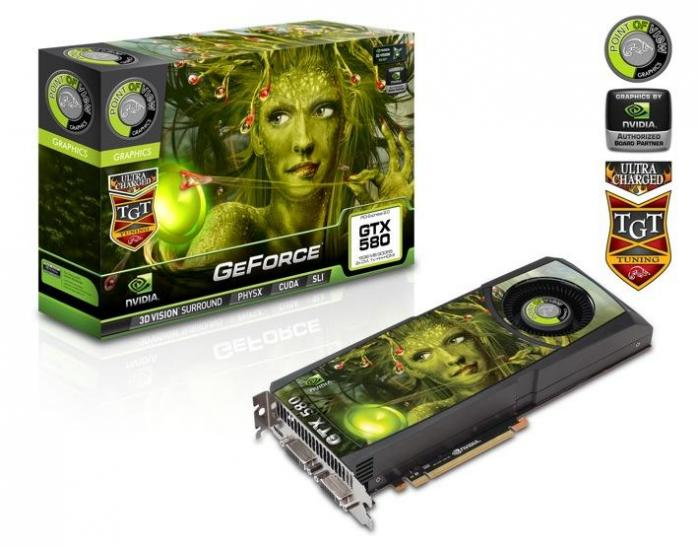 POV/TGT GeForce GTX 580 Ultra Charged