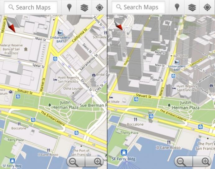 Google Maps 5.0: Effiziente Vr-Maps für Android-Smartphones ... on