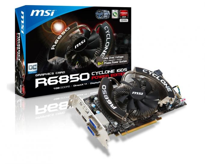 MSI Radeon HD 6850 Cyclone Power Edition: Auf 1.020 MHz GPU-Takt übertaktet - Update