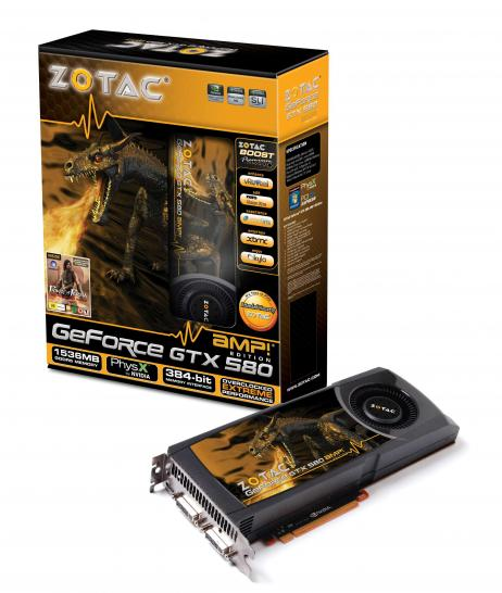 Zotac Geforce GTX 580 AMP: Übertaktete Geforce GTX 580 im Referenzdesign