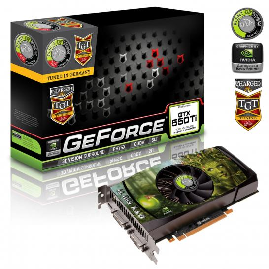 Point of View/TGT Geforce GTX 550 Ti Beast, Ultra Charged und Charged