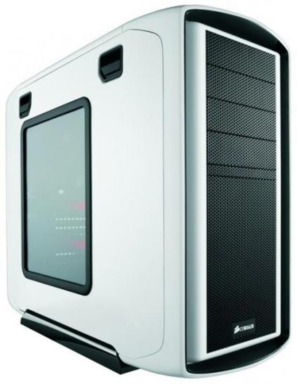 Corsair Special Edition White Graphite Series 600T Case - Front-Ansicht mit Fenster