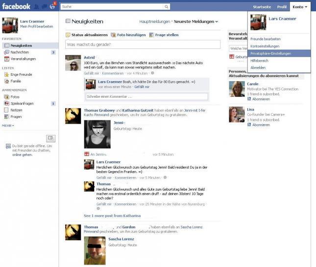 507708b98eaefa Facebook sicher machen  Mehr Sicherheit in Ihrem Profil ...