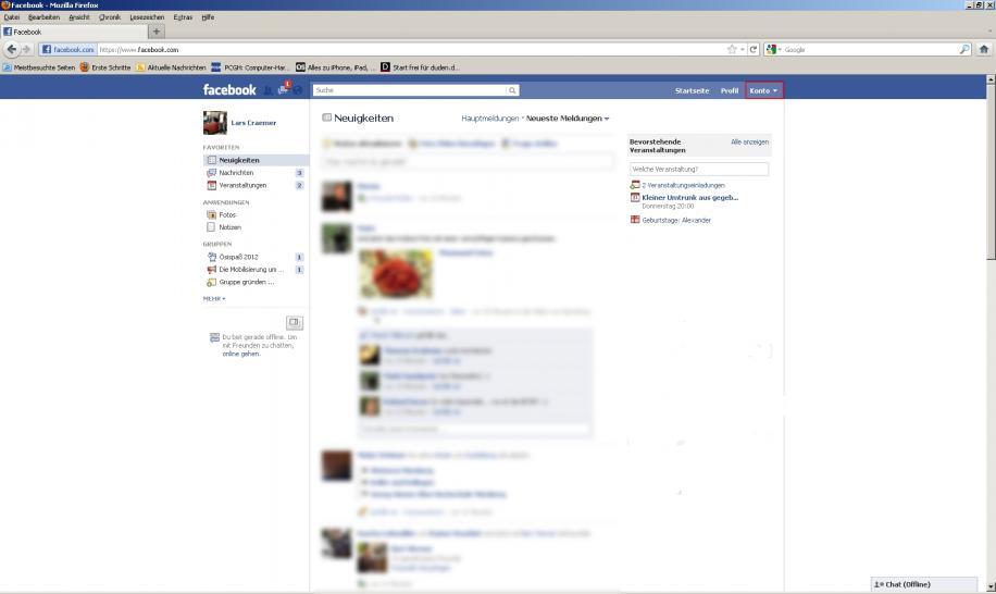 konto facebook dauerhaft löschen