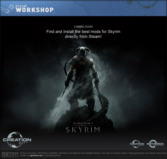 The Elder Scrolls 5 Skyrim: Creation-Kit samt Steam Workshop im Januar, weiterer Patch nächste Woche behebt Fehler der Version 1.2