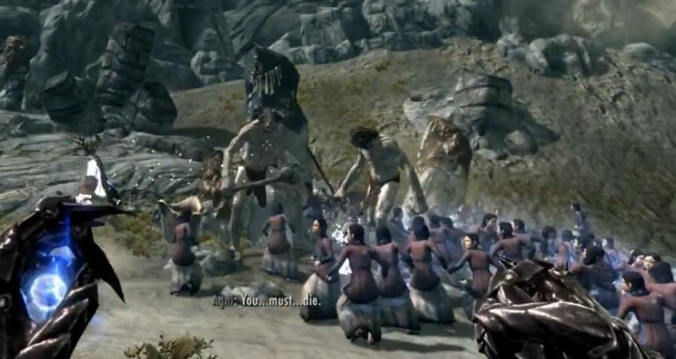 TES 5 Skyrim: Fun-Video zeigt Mädchen-Streitmacht und