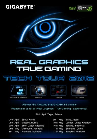 Gigabyte kündigt Geforce GTX 680 Super Overclock Edition an - Infos zur Tech Tour 2012 (1)