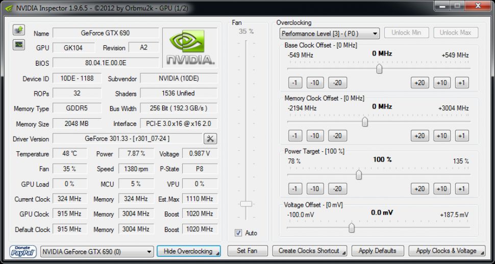 Geforce GTX 690: Spezifikation
