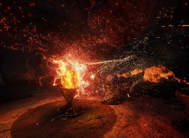 Unreal Engine 4 Elemental-Demo: GPU particles Feuer 01