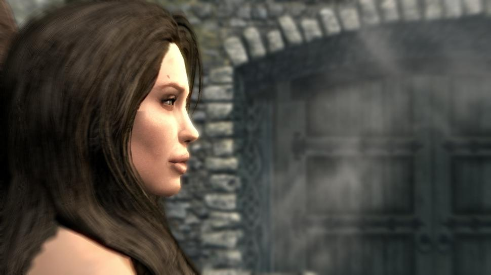 The Elder Scrolls 5: Skyrim - Modifikation bringt Angelina Jolie in das Rollenspiel (17)
