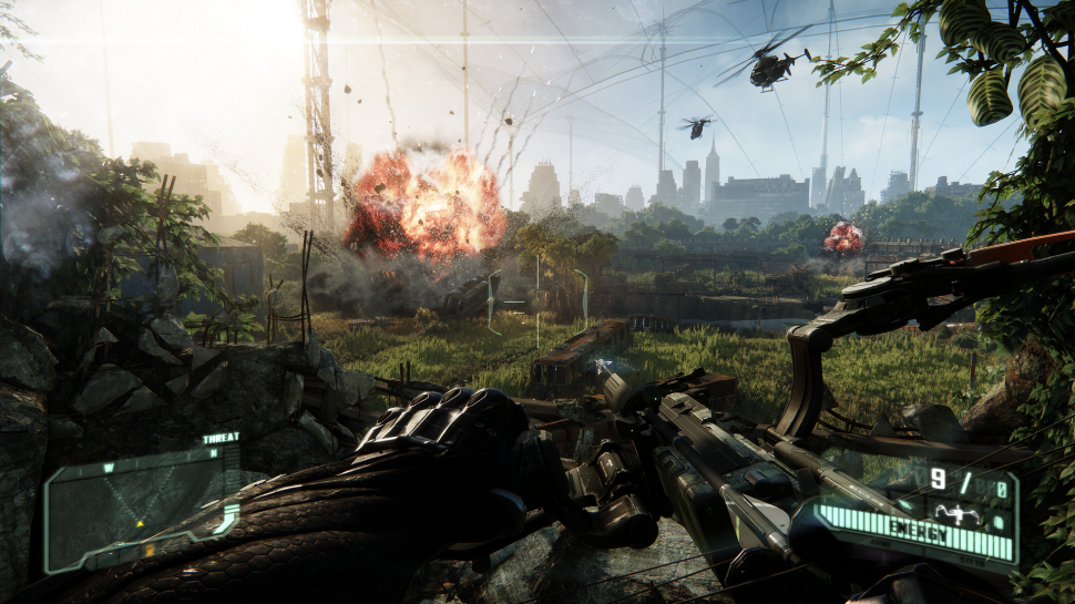Crysis 3: Explosions Beneath the Liberty Dome