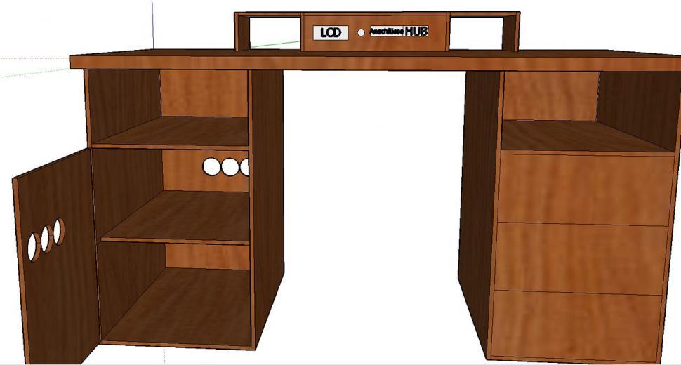 modding macht 39 s m glich wenn der pc im schreibtisch. Black Bedroom Furniture Sets. Home Design Ideas
