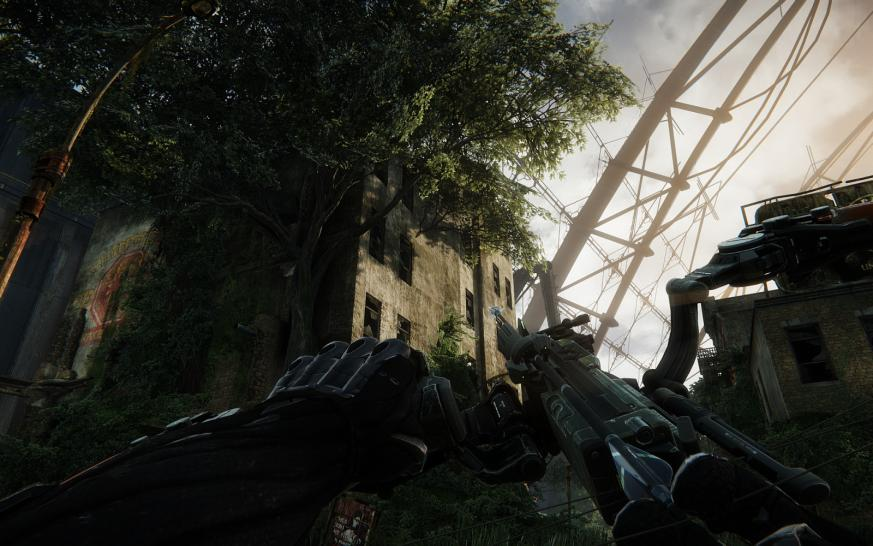 "Crysis 3: Die PCGH Grafikkarten-Testszene ""Fields"", Abschnitt ""Welcome to the jungle"""