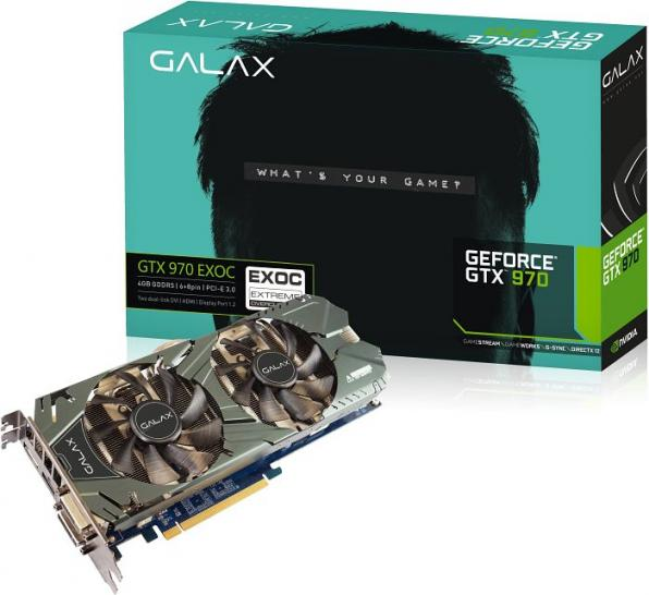 Galax Geforce GTX 970 EXOC, Chiptakt: 1126MHz, Boost: 1266MHz, <a href=