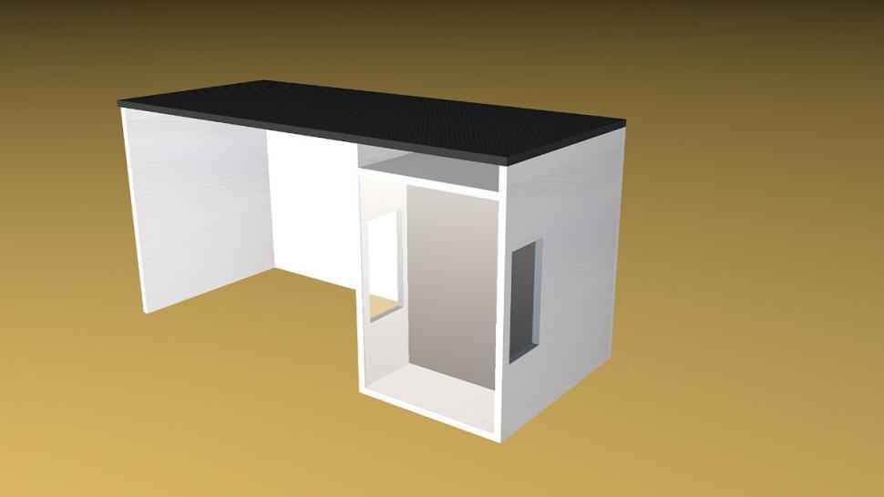 pcghx projekt schreibtisch mit carbonfolie integriertem. Black Bedroom Furniture Sets. Home Design Ideas