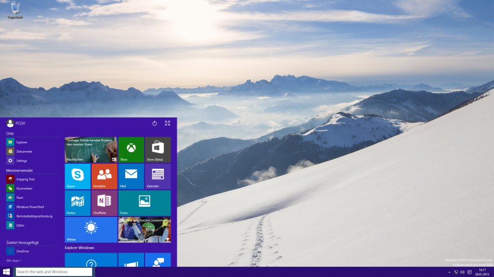 Windows: January Technical Preview im Test (1)