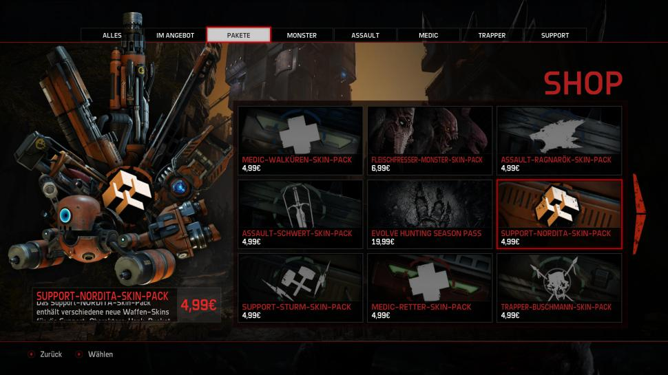 Evolve: DLC-Shop (1)