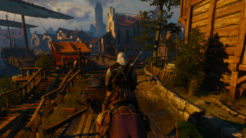 The Witcher 3: Screenshot aus der Preview in 4K (GTX 980)