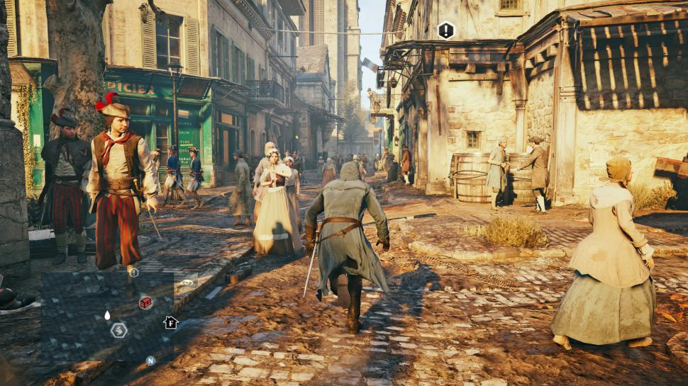 PCGH-Benchmarkszene in Assassins Creed Unity (DX11)
