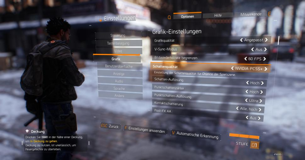 The Division (Final): Grafikoptionen