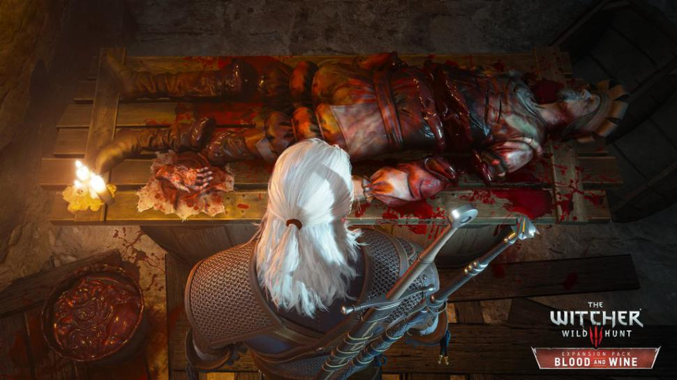 The Witcher 3: Blood and Wine - eher düsterer Screenshot aus Toussaint