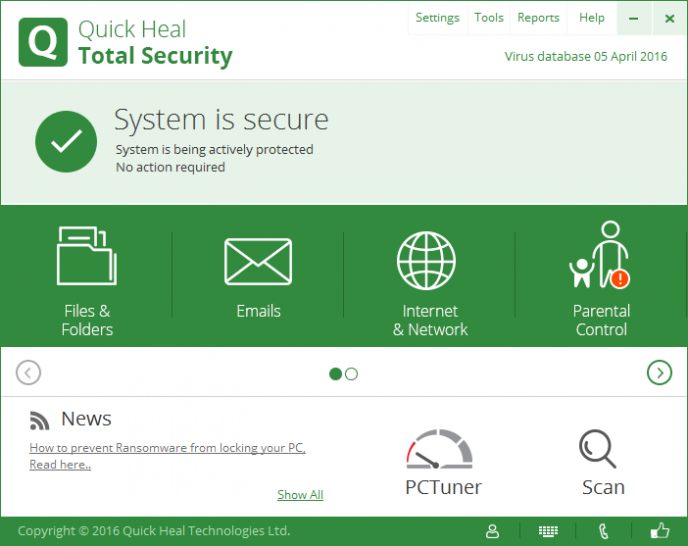 <b>Platz 10 :</b> Quickheal Total Security 16.0 <a href=