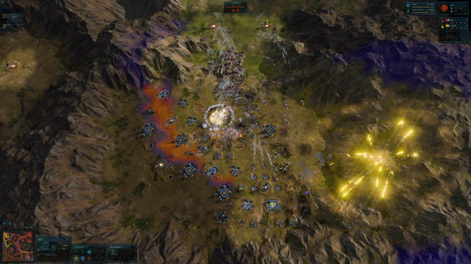 "Ashes of the Singularity (DX12), PCGH-Testszene ""Scavenger"""