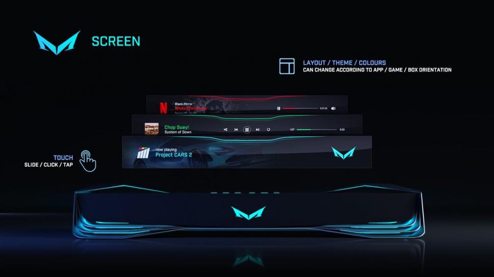 Spielekonsole Mad Box Frühe Design Konzepte U A Mit Display In