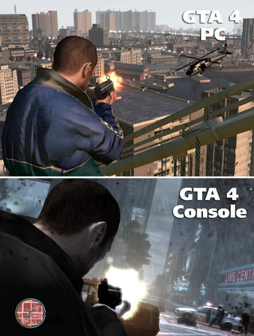 Screenshot comparison GTA 4: How much better is the PC version than the